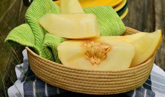 Honigmelone aufgeschnitten
