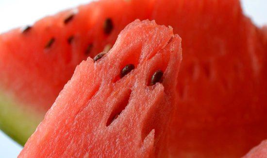 Wassermelone mit Kernen